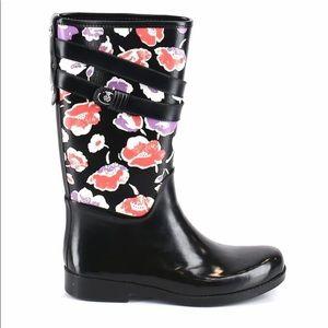 Coach Boots Size 9 Floral Black & Print Women